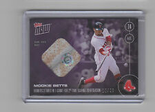 2016 Topps Now Red Sox Mookie Betts Game Used Base Relic Card 12/25