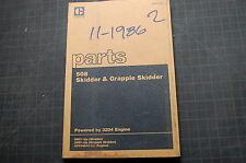Cat Caterpillar 508 Grapple Skidder Forestry Tractor Parts Manual Book 1983 Log