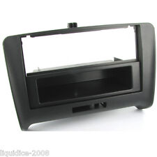 CT24AU14 AUDI TT 8J MODEL 2006 to 2014 BLACK SINGLE DIN FASCIA ADAPTER PANEL