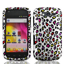 T-Mobile Samsung Galaxy S BLAZE 4G Hard Case Phone Cover White Colorful Leopard