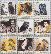 Guinée-bissau 1428-1436 neuf avec gomme originale 2001 Oiseaux