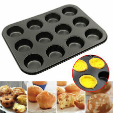 12Cup Muffin Cooking Pan Carbon Steel Nonstick Bakeware Baking Muffins & Cupcake