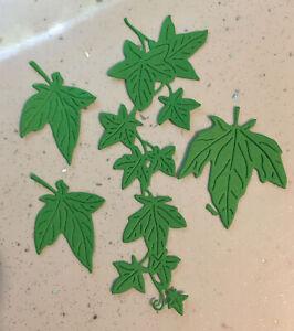 4 Sets Of Trailing Ivy  Plant Leaves Die Cut Christmas Card Making 16 Die Cuts