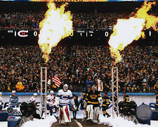 Montreal Canadiens Boston Bruins 8x10 Photo 2016 NHL Hockey Winter Classic Intro