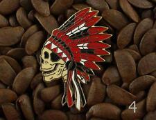 Grateful Dead Pins Native American Indian Headdress Skull Pin NO4