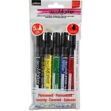 Marcador De Pintura acrílica Set Plata Y Verde Rojo Negro 5 X decomarkers Oro