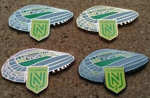 *NEW* Set of 4 FC Nantes - Stade de la Beaujoire / Stadium Pin Badges