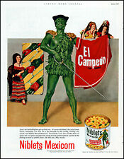 1953 Jolly Green Giant Niblets Mexicorn canned corn vintage photo print Ad adL50