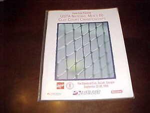 1996 USTA National Men's 60 Clay Court Championships Tennis Program