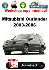 Mitsubishi Outlander 2003-2006  Factory Workshop Repair Manual