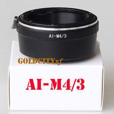 Nikon F AI Mount to Micro Four Thirds M4/3 GF1 GF2 GF3 GF6 GX1 AI-M4/3 Adapter