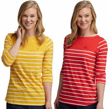 Machine Washable Striped 100% Cotton Tops for Women