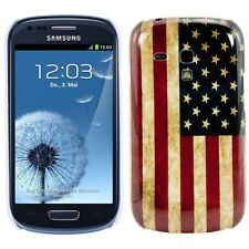 case USA Flagge SAMSUNG GALAXY S3 mini / i8190,used look US Flag Hülle cover
