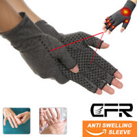 Compression Arthritis Gloves Copper Infused Fit Rheumatoid Hand Joint Support HG