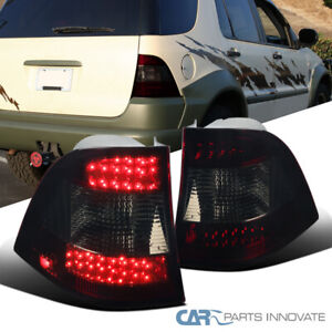 For 98-05 Mercedes Benz W163 M-Class Red Smoke LED Tail Brake Lights Lamps L+R