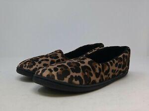 Dearfoams Women's Cheetah Print Moccasin 10 US