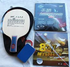 Custom-made 729 Friendship Long-Pips + Pips-in Table Tennis Bat w/Case Melbourne