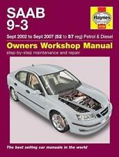 Saab 9-3 (2002-2007) Reparaturanleitung workshop repair service manual Handbuch