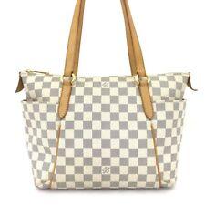 100% Authentic Louis Vuitton Damier Azur Totally PM Shoulder Tote Bag /40869