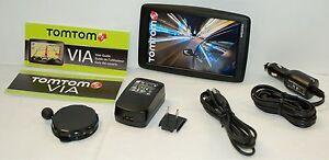 "NEW TomTom VIA 1605TM Car Portable GPS Navigator LARGE 6"" LIFETIME MAPS/TRAFFIC"
