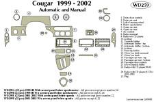 MERCURY COUGAR 2001 2002 DASH TRIM KIT f