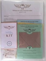 TOOTH FAIRY KIT With Tooth Bag, Payment Receipts & Official Record / Brand New
