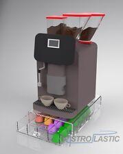 Contenitore cassetto porta capsule caffè 4 scomparti in plexiglass TRASPARENTE