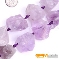 "Natural Crude Geode Raw Amethyst Gemstone Beads For Jewelry Making Strand 15"""