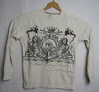 VTG Nautica Jeans Co Long Sleeve Shirt Mens Sz Medium Graphic Print Crest