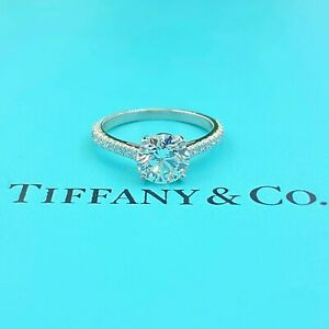 Tiffany & Co NOVO 1.62 tcw  E VS1 Round Diamond Engagement Ring