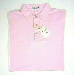 Peter Millar Summer Comfort Men XL Golf Stretch Solid Pink Pique Polo Shirt, New