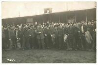 Antique WW1 military RPPC postcard group of German soldiers prisoners of war