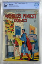 WORLD'S FINEST COMICS #40 CBCS 7.0 Superman Batman 1949 CGC