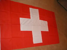 SWITZERLAND SWISS FLAG FLAGS 5'X3' BRAND NEW POLYESTER POST FREE IN UK
