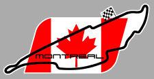 STICKER CIRCUIT MONTREAL CANADA QUEBEC GILLES VILLENEUVE 12cm AUTOCOLLANT MA218