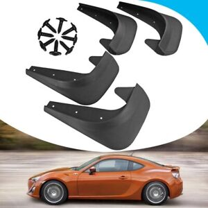 4pcs Car Accessories Black Universal Mud Flaps Guards Splash Molded Front Rear