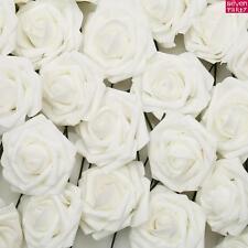 50/100 coloridas espuma rosas 7-8cm flores & tallo boda novia bouquet diámetro