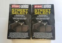 Stoptech Street Select Front + Rear Brake Pads Fits Nissan 350Z G35 w/BREMBO