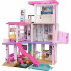 Dollhouse with Pool 3.75-ft DreamHouse Slide Elevator Lights & Sound For Kids