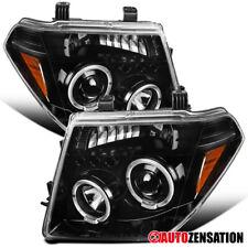 For 2005-2007 Nissan Pathfinder Frontier Slick Black Halo Projector Headlights