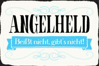 Angelheld Blechschild Metallschild Schild gewölbt Metal Tin Sign 20 x 30 cm