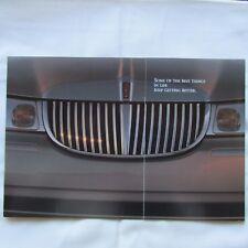 LINCOLN TOWN CAR 1998 Preview USA American Market Original Sales Brochure 1997