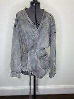 One Teaspoon Charcoal Denim Jacket With Tie Size XS EUC
