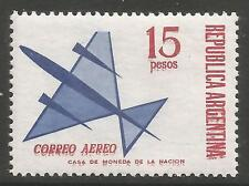 ARGENTINA. 1965. 15p Airmail Variety Red Double. SG: 1148 var. Mint Never Hinged