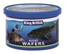 KING BRITISH ALGAE WAFERS 40g  FISH FOOD AQUARIUM TANK CATFISH PLECOSTOMUS