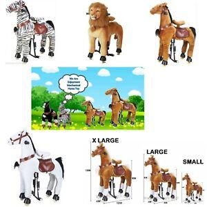 Ride On Pony toys  scooter Animal Horse, Zebra,Unicorn, Lion, Tiger 3-15 Yrs Age