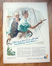 1944 Beer Morale Ad  Playing a Game Pitching of Horse Shoes