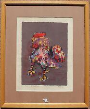 Lithographie de Pierre BOSCO signée épreuve d'artiste coq - Oeuvre encadrée*