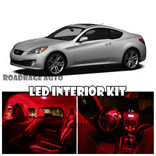 For 10-12 Hyundai Genesis Coupe Interior HID LED Kit Light Bulb RED