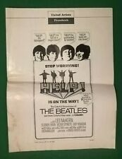 "THE BEATLES-HELP (United Artists,1965).Uncut Pressbook (16 Pages, 13.25"" X 18"")"